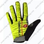 2017 Team Castelli Cycling Full Fingers Gloves Yellow