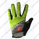 2017 Team Castelli Cycling Full Fingers Gloves Yellow Grey
