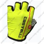 2017 Team Castelli Cycling Gloves Mitts Half Fingers Yellow
