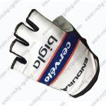 2017 Team Cervelo bigla Cycling Gloves Mitts Half Fingers White Blue