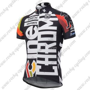 2017 Team Cinelli CHROME Bike Riding Jersey Maillot Shirt Black White