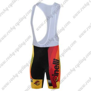 2017 Team Cinelli CHROME Cycling Bib Shorts Bottoms Black Yellow Red