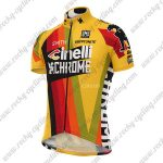 2017 Team Cinelli CHROME Cycling Jersey Maillot Shirt Yellow Red