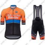 2017 Team DE ROSA Santini Cycle Bib Kit Orange Blue Black