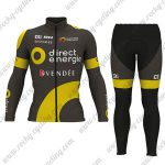 2017 Team Direct Energie VENDEE Cycle Long Suit Black Yellow