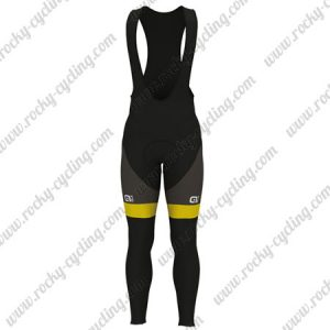 2017 Team Direct Energie VENDEE Cycling Long Bib Pants Tights Black Yellow