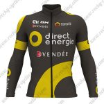 2017 Team Direct Energie VENDEE Cycling Long Jersey Black Yellow