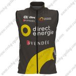 2017 Team Direct Energie VENDEE Cycling Sleeveless Vest Black Yellow