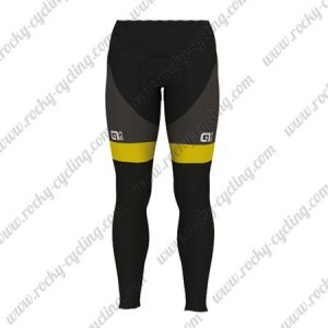 2017 Team Direct Energie VENDEE Riding Long Pants Tights Black Yellow
