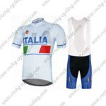 2017 Team ITALIA Cycling Bib Kit WHite