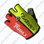 2017 Team ITALIA Cycling Gloves Mitts Half Fingers Yellow Red