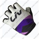 2017 Team LIV Women Cycling Gloves Mitts Half Fingers White Purple