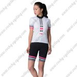 2017 Team LIV Women Lady Cycling Kit White Black Pink