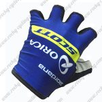 2017 Team ORICA SCOTT Cycling Gloves Mitts Half Fingers Blue Yellow