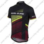 2017 Team PEARL IZUMI Cycling Jersey Maillot Shirt Black Yellow Red