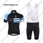2017 Team PINARELLO Cycling Bib Kit Black Blue