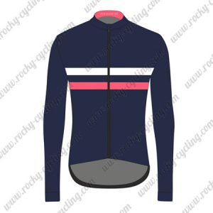 2017 Team Rapha Cycling Long Jersey Blue Pink White