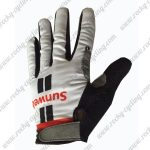 2017 Team Sunweb Cycling Full Fingers Gloves White