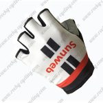 2017 Team Sunweb Cycling Gloves Mitts Half Fingers White