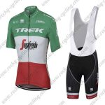 2017 Team TREK Segafredo Italy Champion Riding Bib Kit Green Red