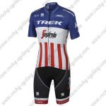 2017 Team TREK Segafredo US American Champion Cycling Kit Blue Red