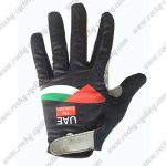 2017 Team UAE Fly Emirates Cycling Full Fingers Gloves Black Green Red