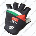 2017 Team UAE Fly Emirates Cycling Gloves Mitts Half Fingers Green Red