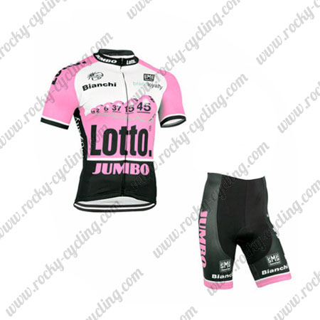 f29a22717 2015 Team LOTTO JUMBO Pro Cycle Apparel Riding Jersey and Padded ...