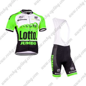 2015 Team LOTTO JUMBO Riding Bib Kit Green