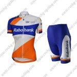 2015 Team Rabobank Womens Lady Riding Kit White Blue Orange