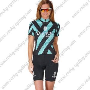 2017 Team BIANCHI Womens Lady Cycling Kit Black Blue