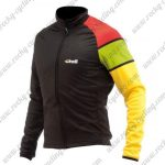 2017 Team Cinelli Cycling Long Jersey Black Yellow Red