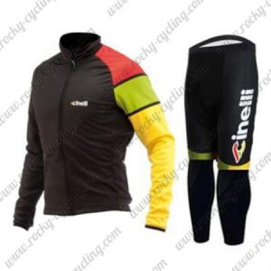 2017 Team Cinelli Cycling Long Suit Black Yellow Red