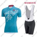 2017 Team GORE Women's Lady Cycling Bib Kit Blue