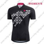 2017 Team GORE Women's Lady Cycling Jersey Maillot Shirt Black