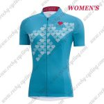 2017 Team GORE Women's Lady Cycling Jersey Maillot Shirt Blue