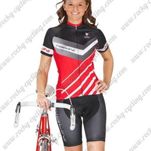 2017 Team Nalini Womens Lady Cycling Kit Black Grey Red