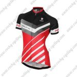 2017 Team Nalini Womens Lady Riding Jersey Maillot Shirt Black Grey Red