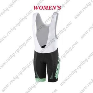 2017 Team SCOTT Womens Lady Cycle Bib Shorts Bottoms Black Green