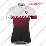2017 Team SCOTT Womens Lady Cycling Jersey Maillot Shirt White Red Black