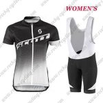2017 Team SCOTT Womens Lady Riding Bib Kit Black White