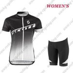 2017 Team SCOTT Womens Lady Road Bike Kit Black White