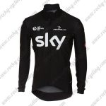 2017 Team SKY Riding Long Jersey Maillot Black
