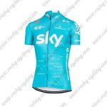 2017 Team SKY Womens Lady Cycling Jersey Maillot Shirt Blue
