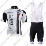 2010 Team BMC Cycle Bib Kit White Black