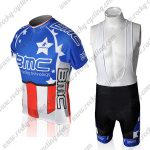 2010 Team BMC HINCAPIE Cycling Bib Kit Blue Red