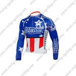 2010 Team BMC HINCAPIE Cycling Long Jersey Maillot Shirt Blue Red