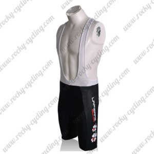 2010 Team FDJ Cycle Bib Shorts Bottoms Black