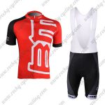 2011 Team BMC Cycle Bib Kit Red Black