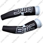 2011 Team BMC Cycling Arm Sleeves Warmers Black White